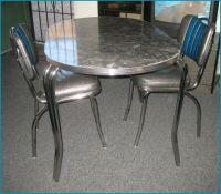 NEW 50's RETRO DINER CHROME/FORMICA DINING DINETTE SET