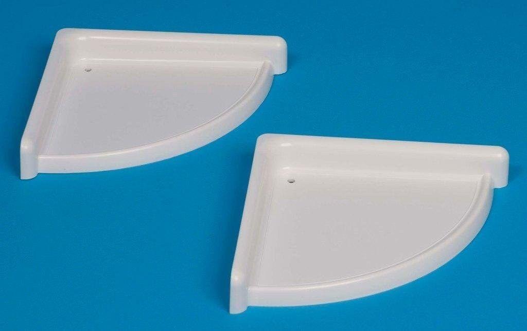 SET OF 2 BATHROOM CORNER SHELF/RACK Durable PLASTIC.with