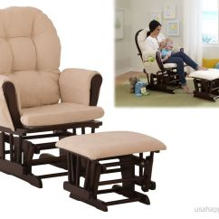 Glider Recliner Chair With Ottoman Papasan Cushion Cover Rocker Rocking Set Baby Relax