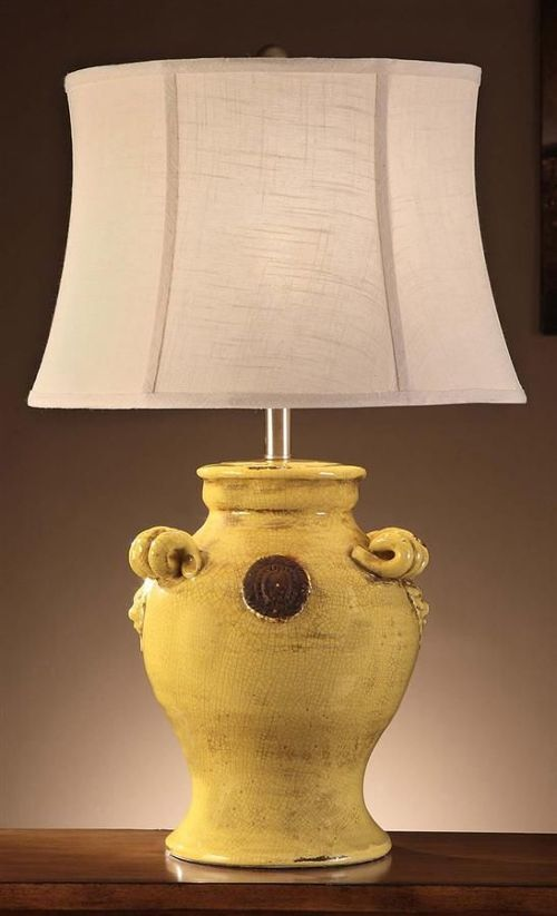 Old World Tuscan Dijano Yellow Ceramic Table Lamp Toscano French Country EBay