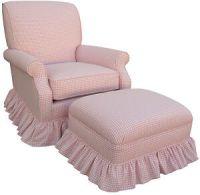Pink Gingham Check Upholstered Rocker Glider Chair Nursing ...