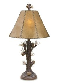 Pinecone Table Lamp Tree Rustic Lodge Cabin Pine Cone New ...
