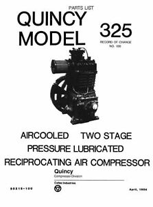 Quincy Model 325 Air Compressor Parts Manual on PopScreen