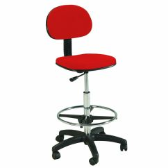 Stool Chair Red Cold Steel Tips Counter Drafting Height Office Ebay