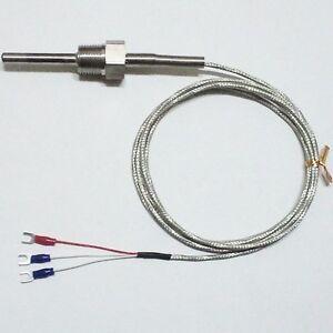 RTD PT100 Ohm Probe Sensor L 50mm PT NPT 1 2'' Thread with