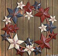 Rustic Americana Barn Star Wreath Large Patriotic Metal ...