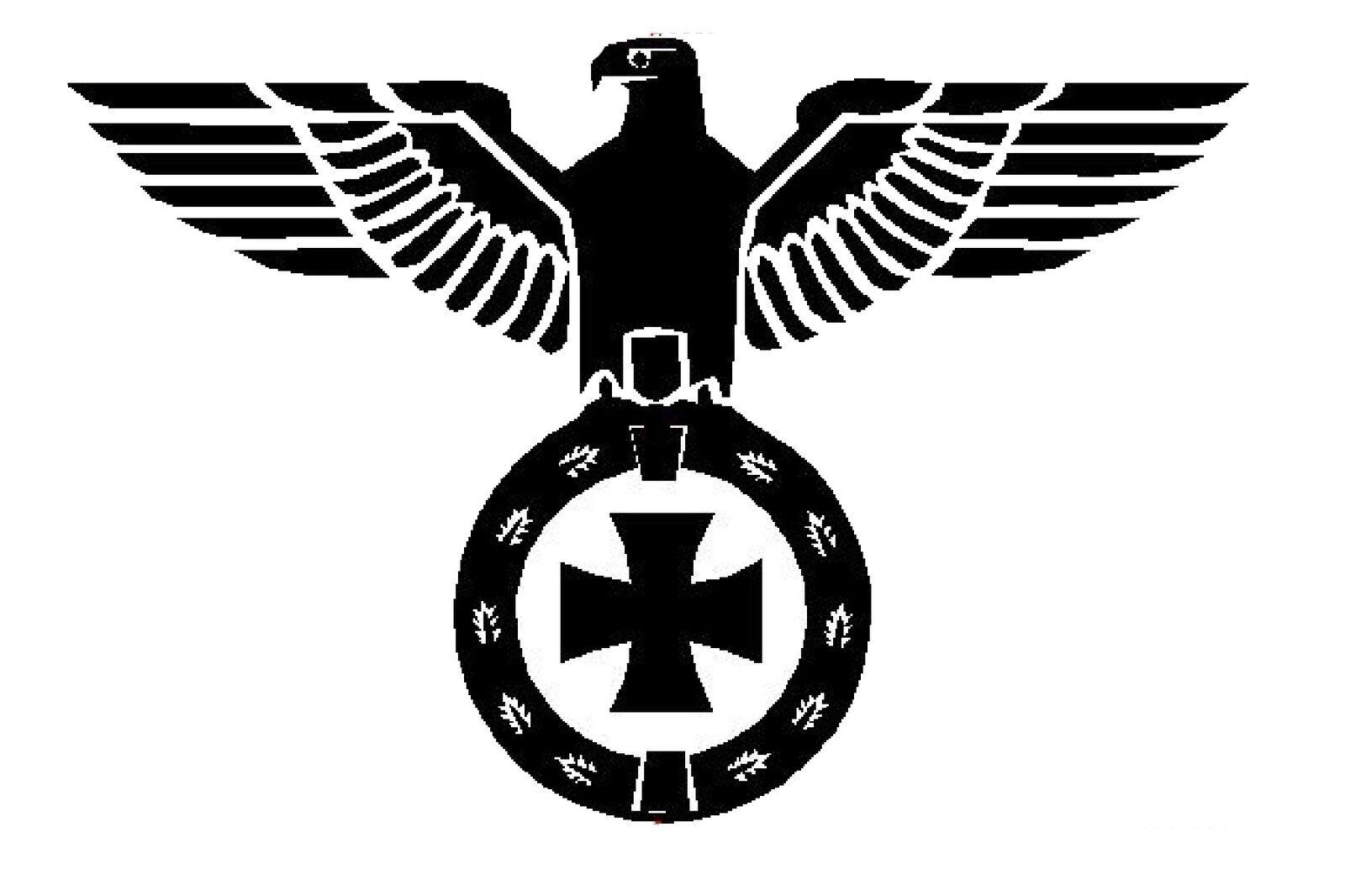 Reichsadler Auto Aufkleber Sticker Schrift Adler