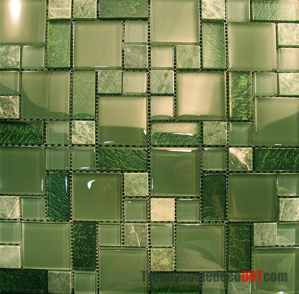 green kitchen backsplash pub sets 1sf marble crystal glass pattern mosaic