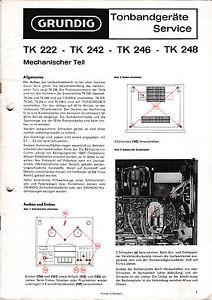 Service Manual-Anleitung für Grundig TK 248/TK 242/TK 246