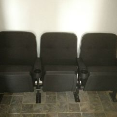 Movie Theatre Chairs For Home Small Accent With Wood Arms Set Of 3 Theater Seating Seats