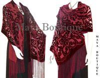 Maya Matazaro Shawl Wrap Scarf Burnout Velvet Art Nouveau ...