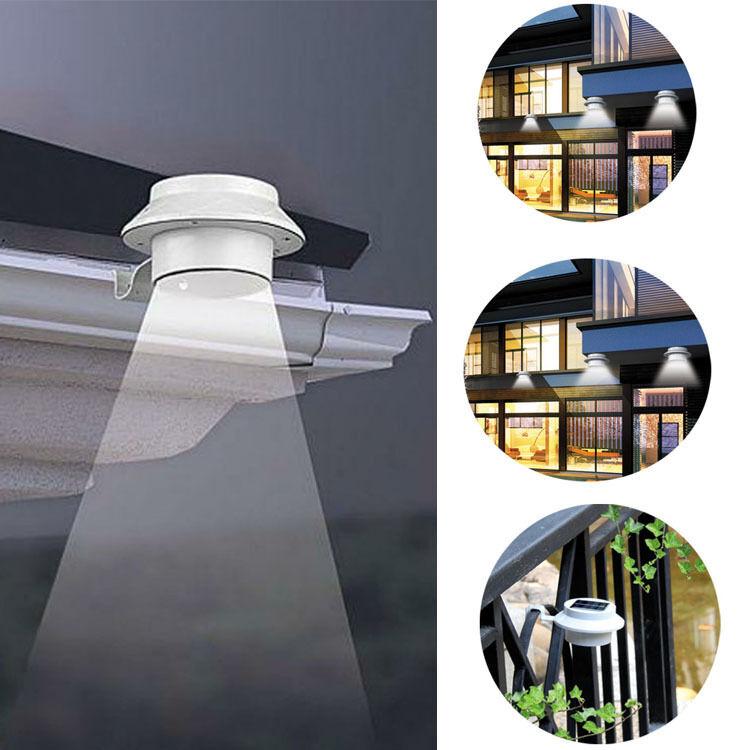 Solar Power Powered Outdoor Garden Light Gutter Fence LED