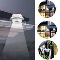 Solar Power Powered Outdoor Garden Light Gutter Fence LED