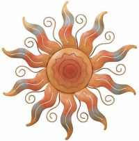 Southwest Sun Wall Art Metal Sunburst Sculpture Hanging