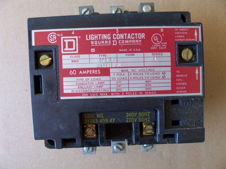 2 Pole 60 Amp Lighting Contactor