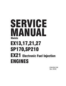 Subaru Robin Engine Service Repair Shop Manual EX13 EX17