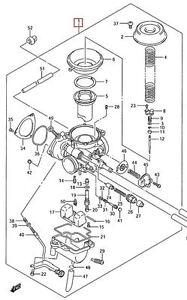 Suzuki Ozark 250 Carburetor Carb Assembly 2002 2009 13200