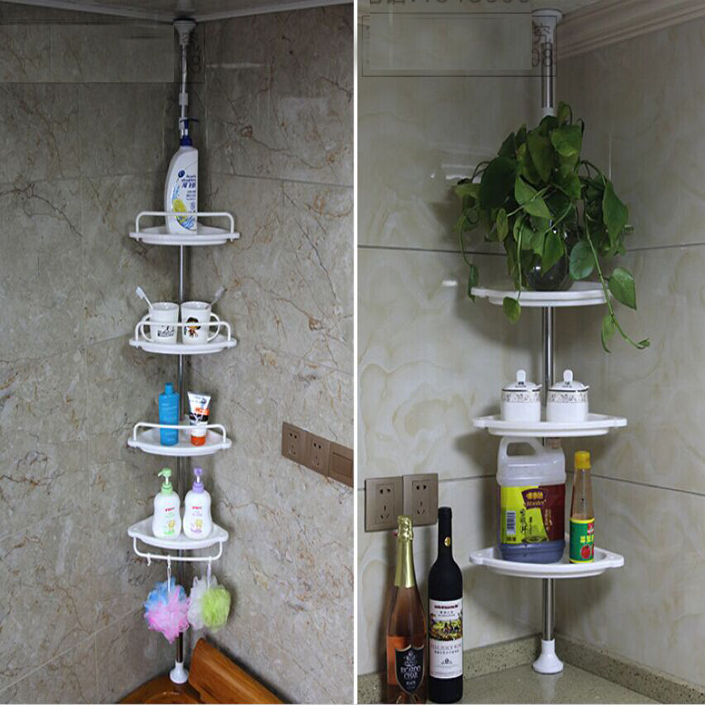 Corner Shower Caddy Shelf Organizer Bath Storage Bathroom Toiletry Rack US  eBay
