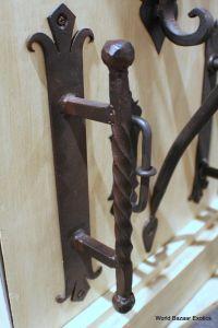 Twisted Wrought Iron door handle dark bronze finish