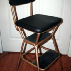 Retro Chair Stool Staples Gaming Review Vintage Copper Cosco Kitchen Step Seat Ladder