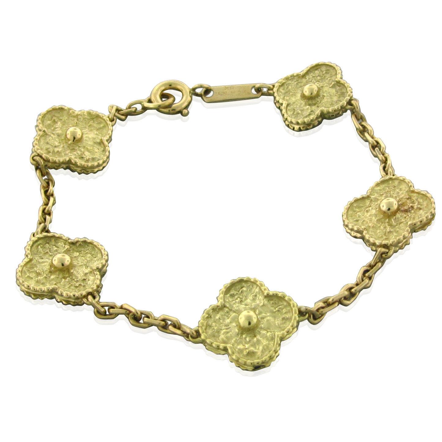 Vintage Van Cleef & Arpels Vca Alhambra 18k Yellow Gold