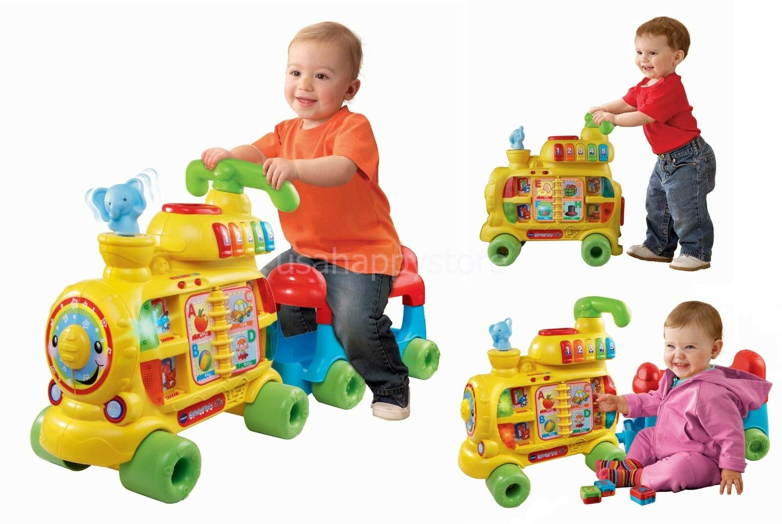 Vtech Alphabet Train Kids Toddler Ride On Interactive Learning Toys Activities