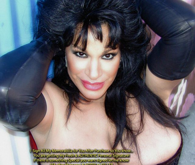 Vanessa Del Rio Adult Star Photo Black Leather Gloves Signed With Coa After Purchase For Personal Authenticity Over 49 And Shipping Is Free