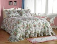 girls bedding sets: Amazon Ribbons Roses Plisse Bedspread ...