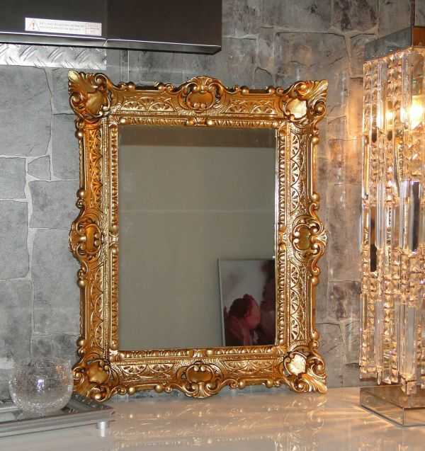 Antique Gold Mirror Bathroom