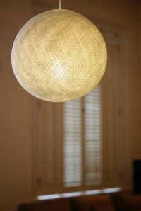 WHITE BIG COTTON BALL LAMPSHADE PENDANT LARGE CEILING LAMP ...