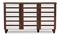 Wood Shoe Cabinet Storage Rack Organizer Entryway Shelves ...
