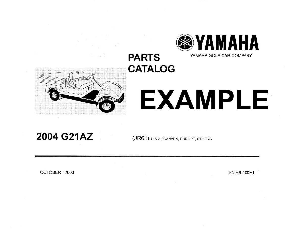 Yamaha Golf Cart Repair Service Manuals Owners Manuals