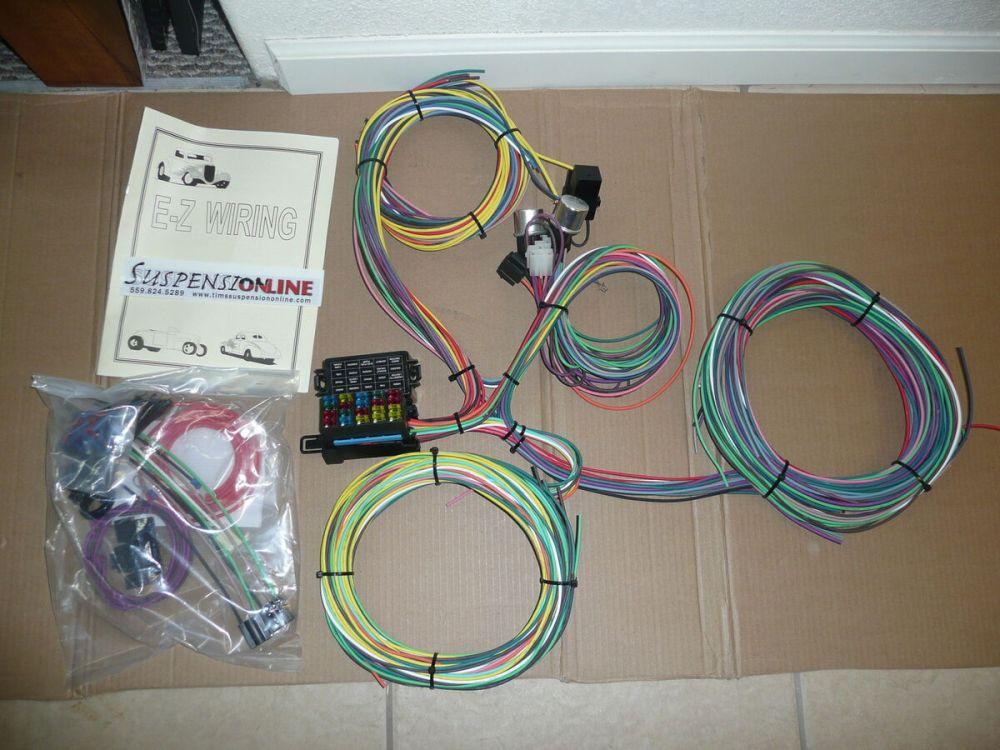 medium resolution of ez wiring mini 20 harness fuses universal street hot rod chevy ford gm