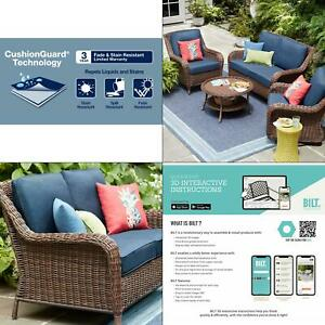 hampton bay blue patio garden