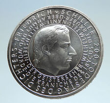 2005 GERMANY w Playwright Friedrich von Schiller Genuine Silver 10EU Coin i75186