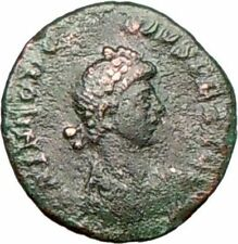 THEODOSIUS I the Great   Ancient Roman Coin CROSS Victory Nike w captive i26428