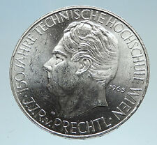 1965 AUSTRIA Vienna Tech School J J von Prechtl Silver 25 Schilling Coin i75132