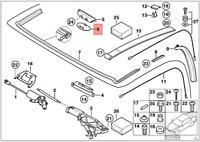 Genuine OEM BMW 6 E64 3 E46 ROOF TOP EMERGENCY ACTUATING