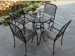 metal patio furniture table chair
