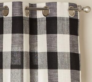 buffalo check curtains for sale ebay