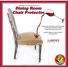 clear plastic chair covers for dining chairs wedding hull vinyl slipcovers ebay furniture protector room cover heavy duty