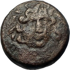 AMPHIPOLIS in MACEDONIA Authentic Ancient Greek Coin GORGONEION ATHENA i68054