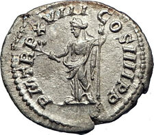 CARACALLA 198AD Authentic Genuine Silver Ancient Roman Coin PAX PEACE i73547