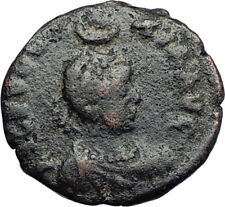 EUDOXIA Arcadius Wife 401AD Authentic Ancient Roman Coin VICTORY CHI-RHO i69939