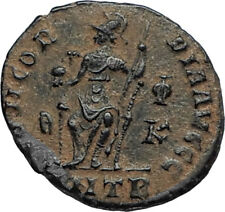 VALENTINIAN II 378AD Antioch Authentic Ancient Roman Coin Rome as Roma i67290