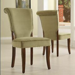 Green Upholstered Dining Chairs Office Chair Covers Bed Bath And Beyond Velvet Ebay Andorra Sage Set Of 2 By Inspire Q Classic