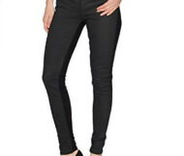 Levis Womens 535 Super Skinny Black Opal Coated Front Jeans Size 26x30 2m