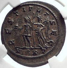 PROBUS crowned by Victory 276AD Authentic Ancient Roman Coin NGC Ch AU i69816