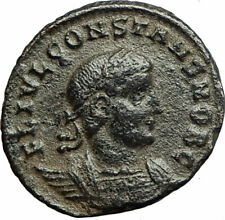 CONSTANS Constantine I son 337AD Ancient Roman Coin LEGIONS Standards i77098