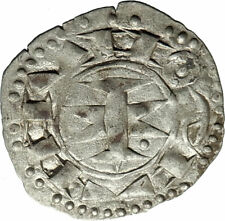 1200-1300AD FRANCE Medieval MELGUEIL Antique Billon Silver French Coin i74602